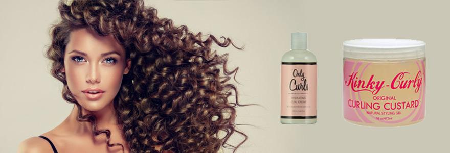 differents soins pour cheveux boucles